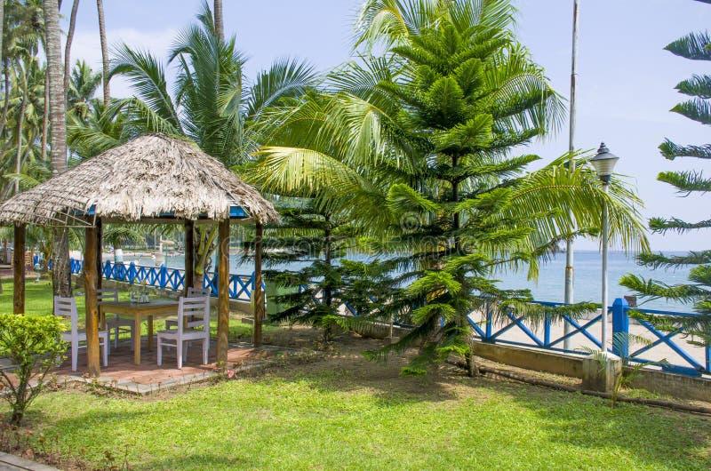 美丽的风景海滨布莱尔港印度 库存照片