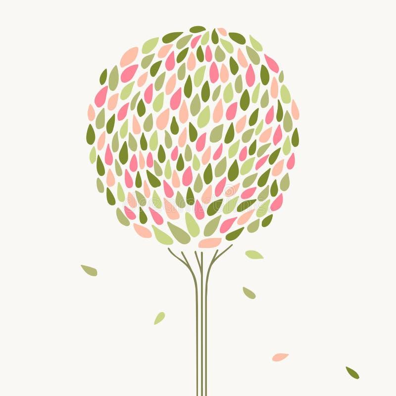 风格化树 库存例证