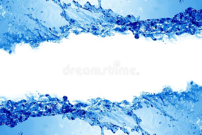 美丽的飞溅水 免版税库存图片