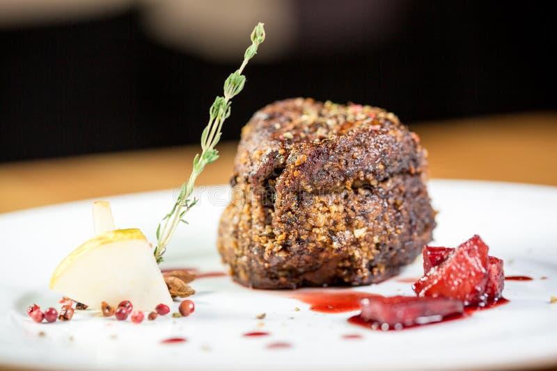 美丽的餐馆食物 免版税图库摄影