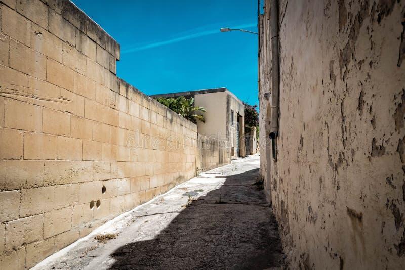 美丽的马耳他街道的图象 库存照片