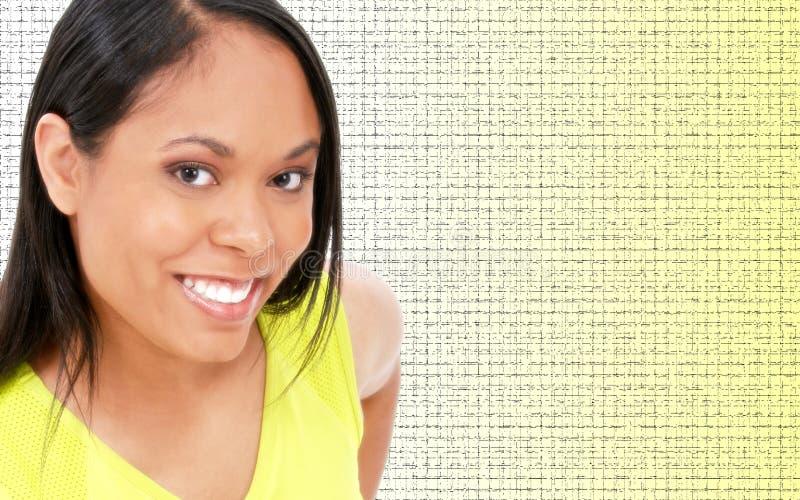 美丽的鲜绿色的妇女年轻人 免版税库存图片