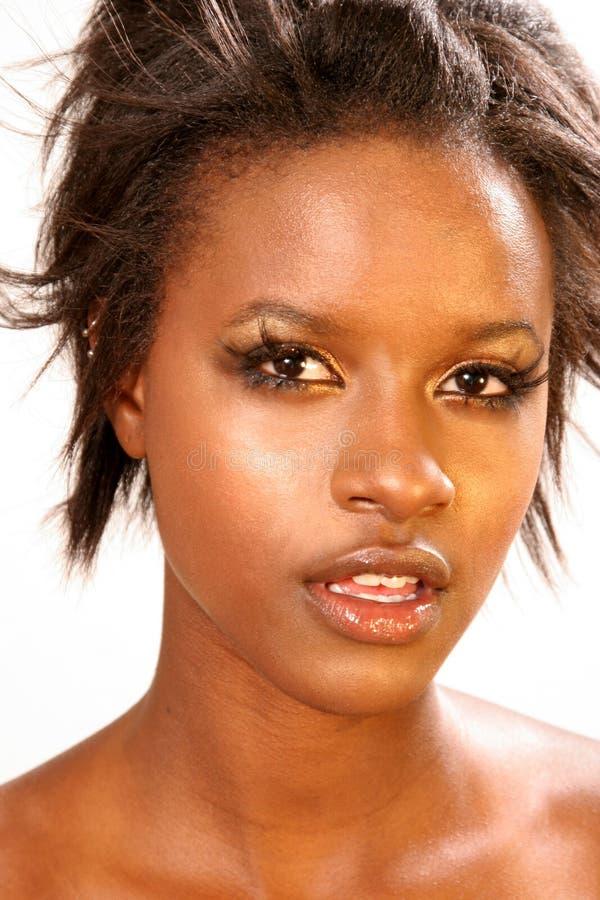 美丽的黑人妇女 库存图片