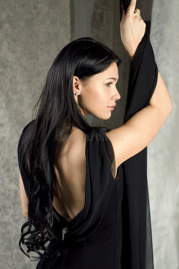 美丽的黑人礼服妇女 库存图片