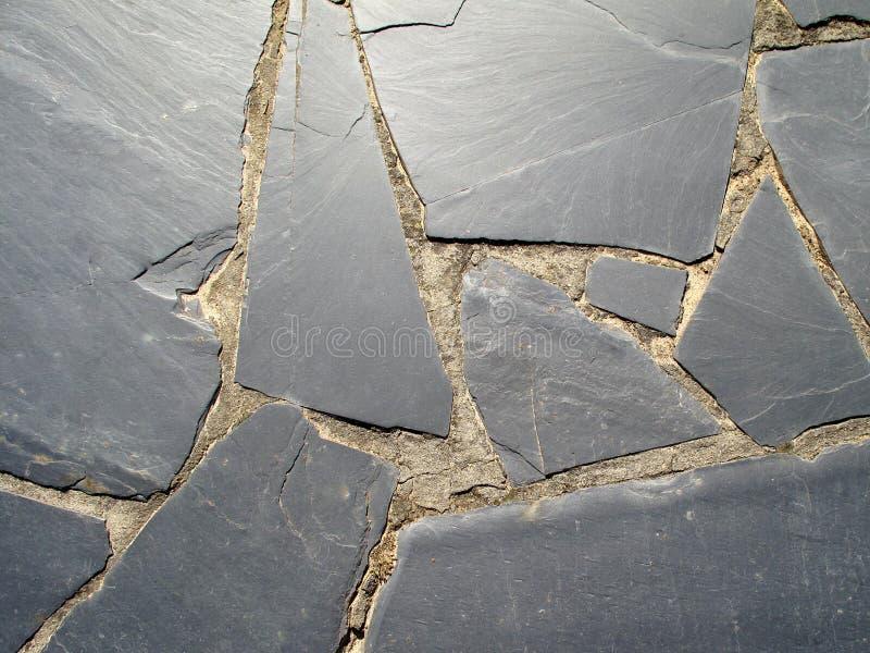 美丽的黑色板岩楼层 库存照片