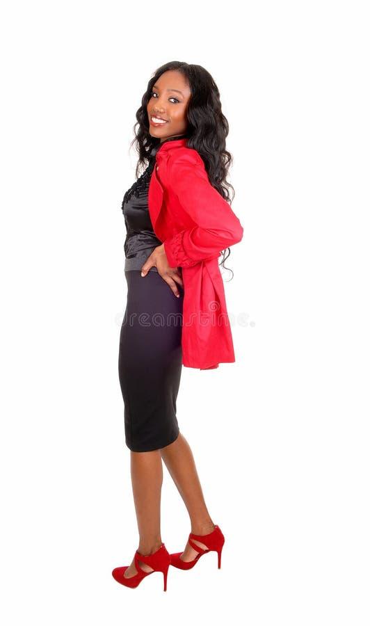 美丽的黑人女孩 免版税图库摄影