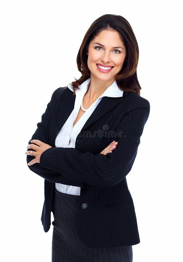美丽的年轻女商人。 库存照片
