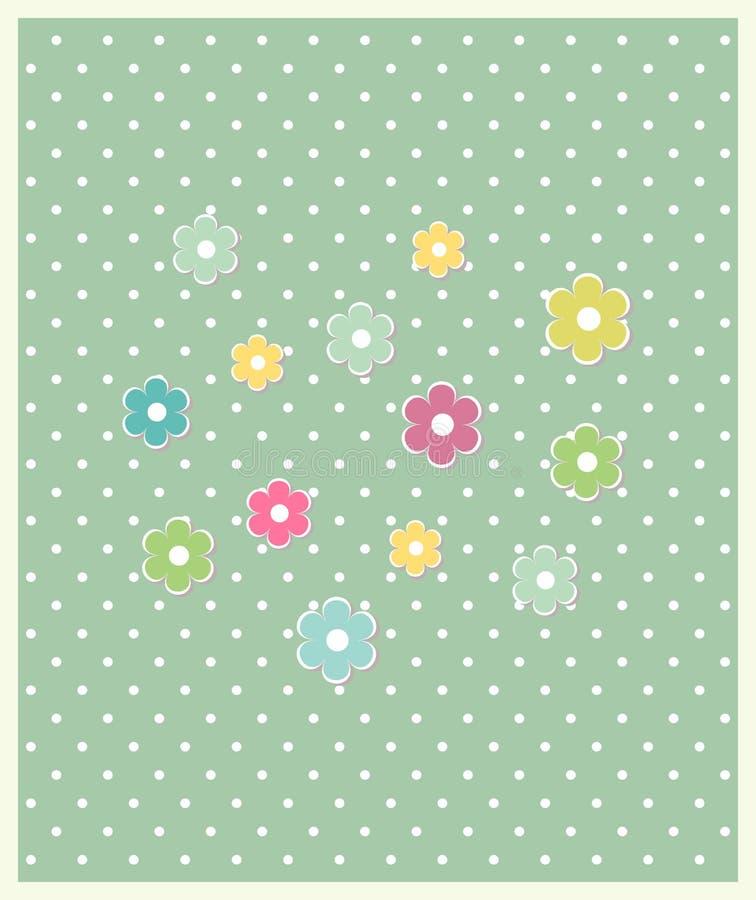 美丽的婴孩花卉贺卡传染媒介 向量例证