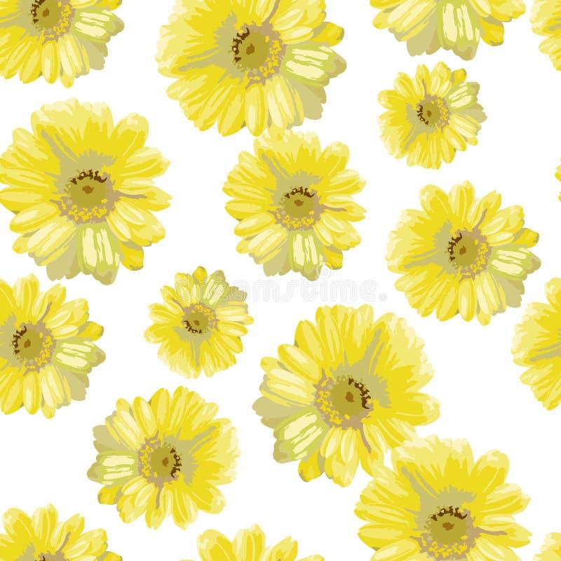 美丽的黄色花 皇族释放例证