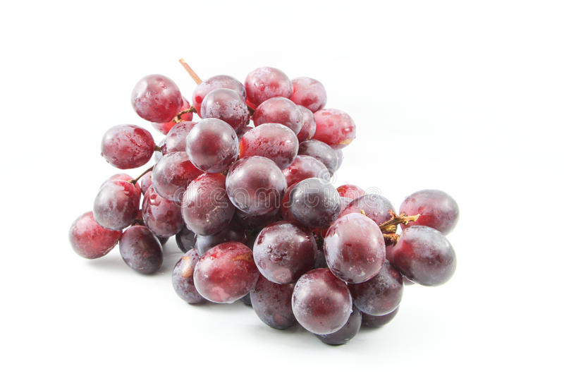 美丽的紫色葡萄 免版税库存照片