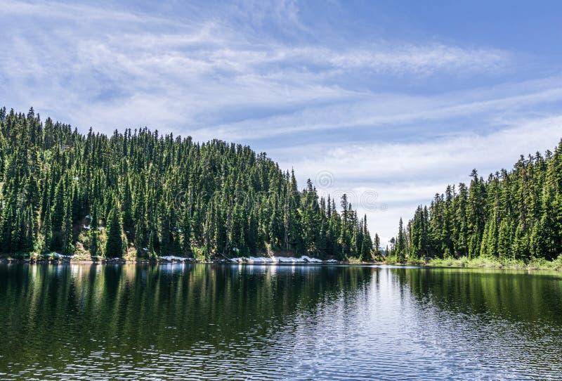 美丽的Barrier湖在山加里波第城省公园不列颠哥伦比亚省加拿大 免版税库存照片
