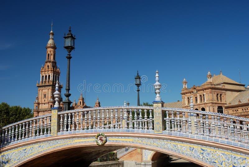 美丽的bridge de西班牙广场 免版税库存照片