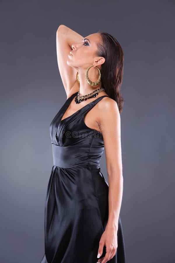 美丽的cleopatra梦想的样式妇女 免版税库存照片
