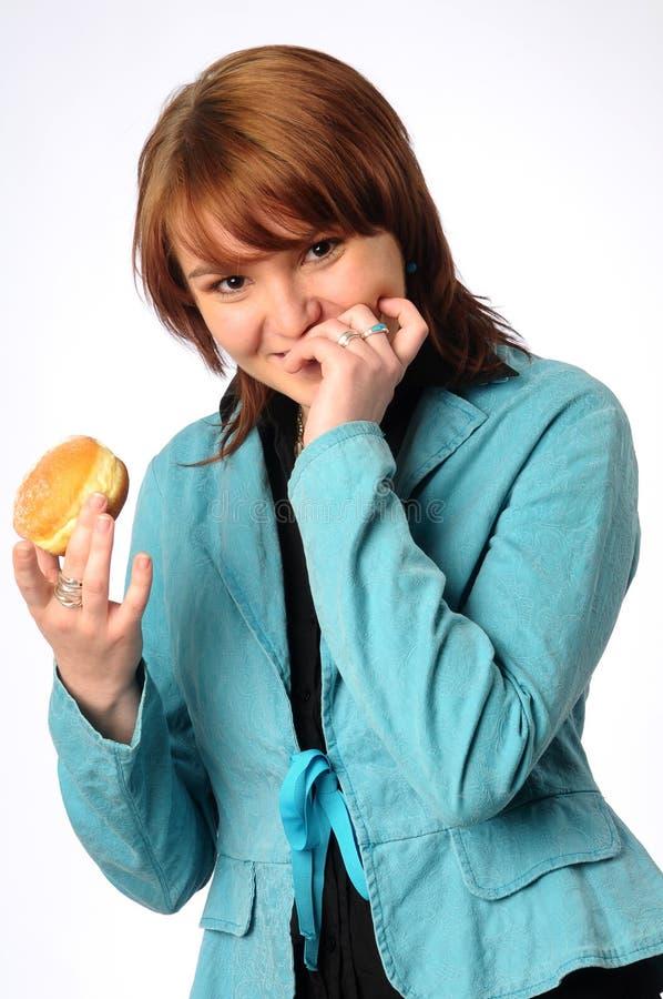 美丽的friedcake妇女年轻人 图库摄影