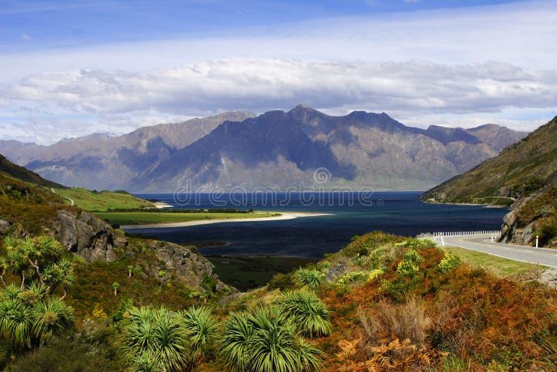 美丽的hawea湖 免版税库存图片