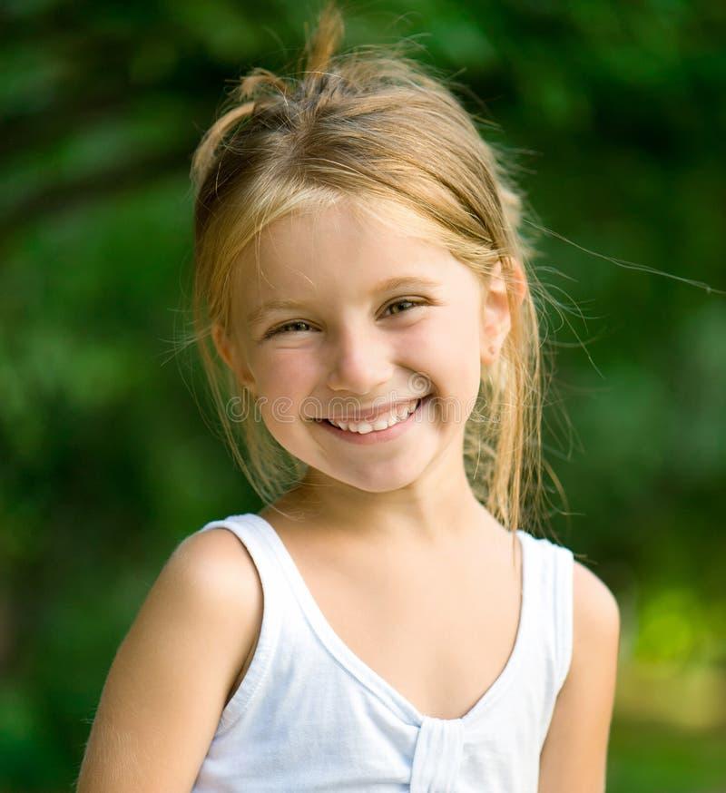 美丽的liitle女孩 免版税库存照片