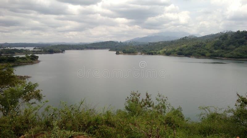 美丽的mahavali河在斯里兰卡 库存照片