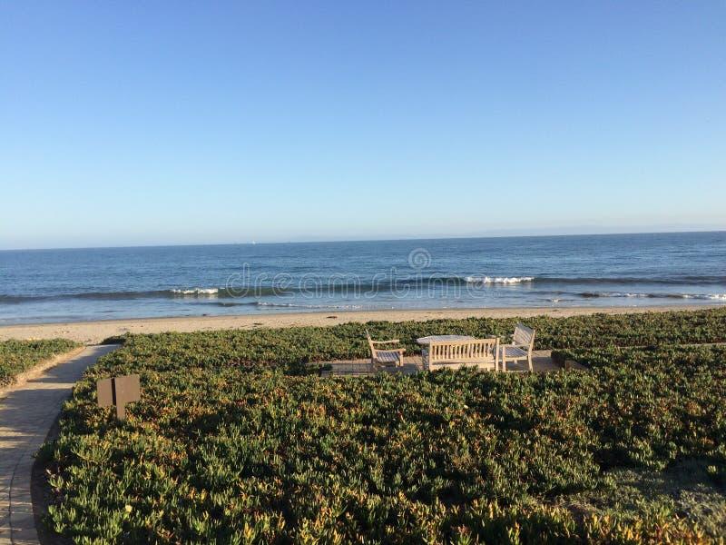 美丽的Montecito,加利福尼亚海岸线  库存照片