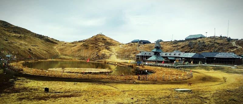 美丽的parashar湖 库存图片