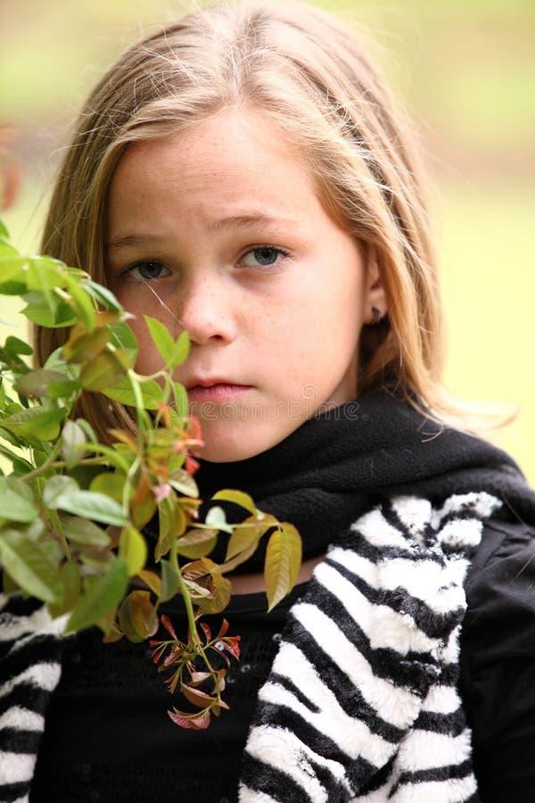 美丽的Preeteen女孩 免版税库存照片