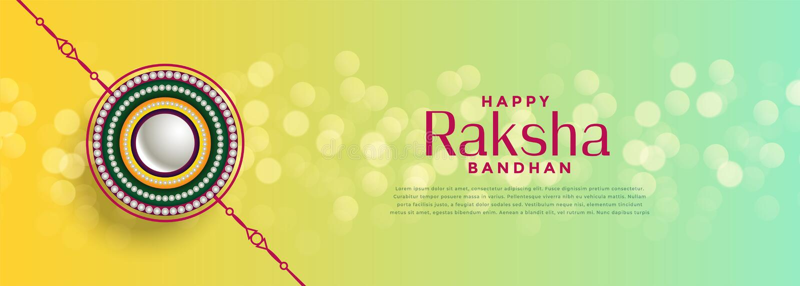 美丽的raksha bandhan bokeh节日背景 向量例证