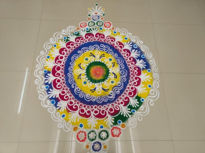 美丽的Rangoli 库存图片