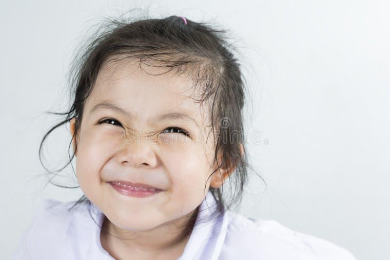 美丽的Smilling逗人喜爱的亚洲女孩 库存照片