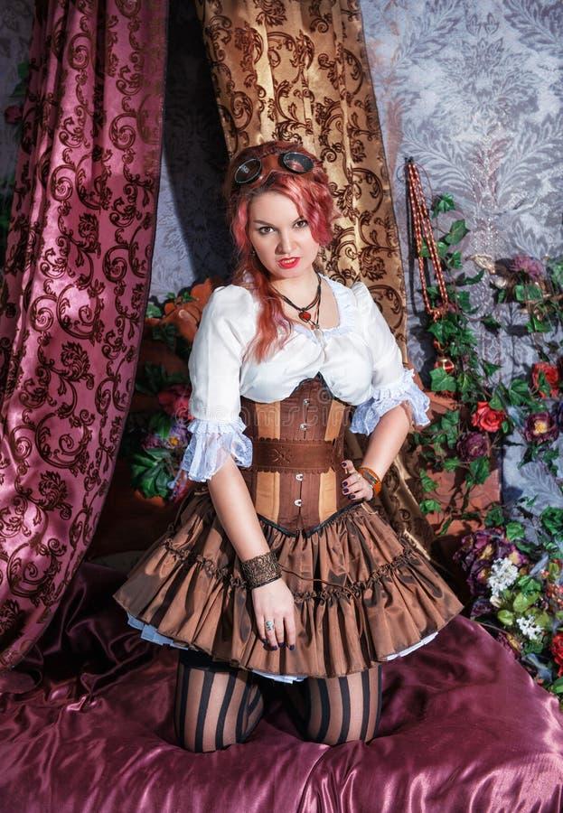 美丽的steampunk妇女 库存图片