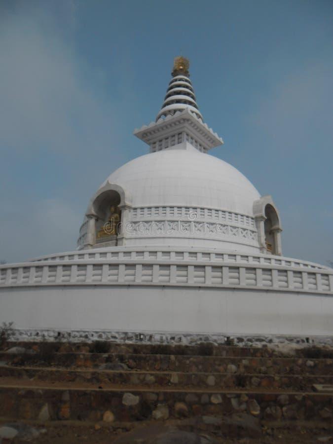 美丽的Stupa 免版税库存照片