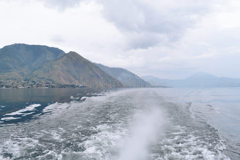 美丽的Toba湖印度尼西亚 免版税库存图片
