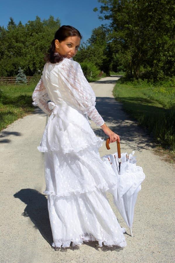 美丽的wh妇女年轻人 免版税库存照片