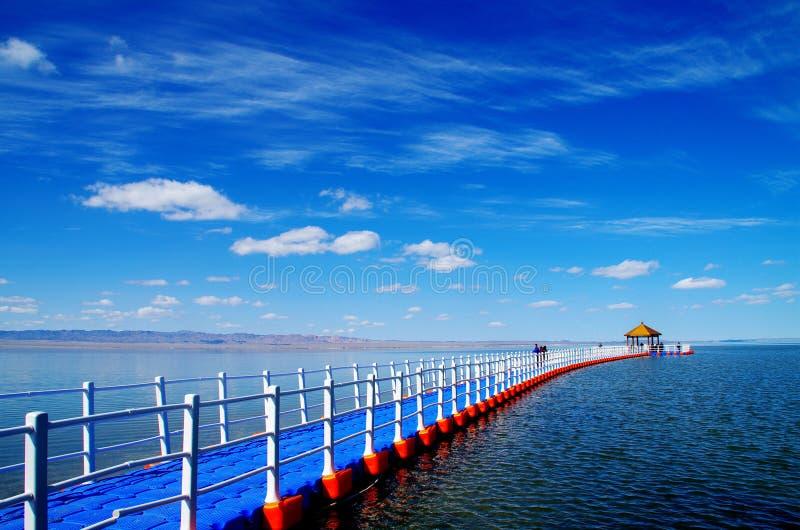 美丽的Xinjiang巴里坤湖 库存照片