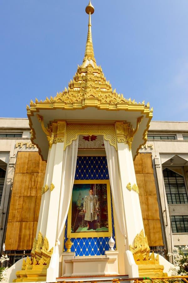 美丽皇家火葬场复制品在曼谷城市居民管理 库存图片