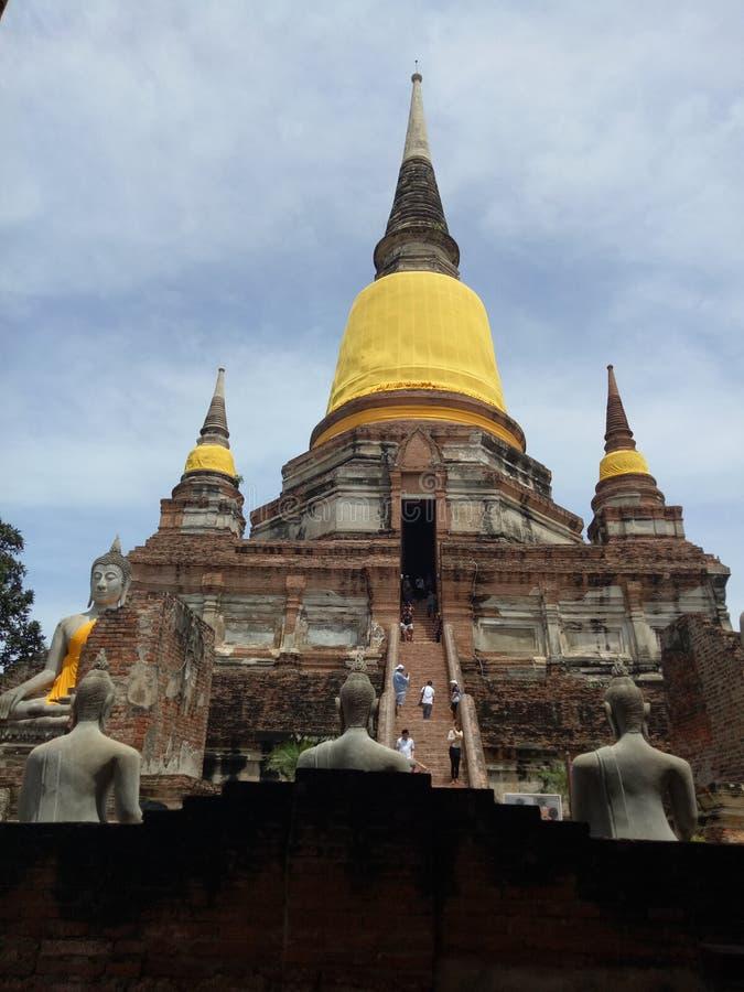 美丽ayutthaya寺庙 图库摄影