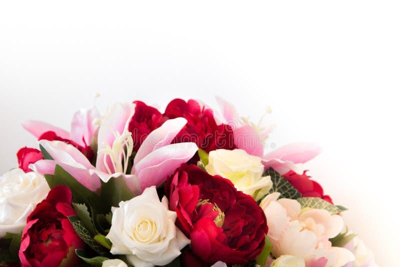 美丽lilly和玫瑰花 库存照片