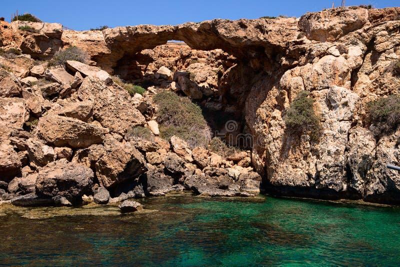 美之女神,塞浦路斯,法马古斯塔桥梁  库存图片