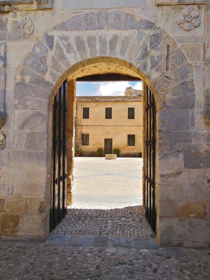 美人鱼的门, Sanlucar de Barrameda城堡  库存照片