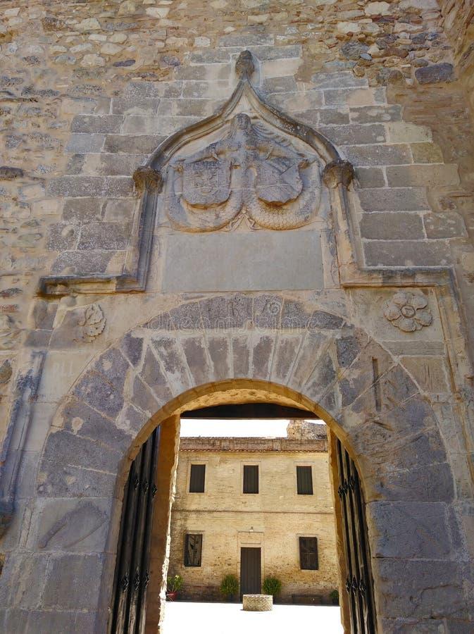 美人鱼的门, Sanlucar de Barrameda城堡  图库摄影