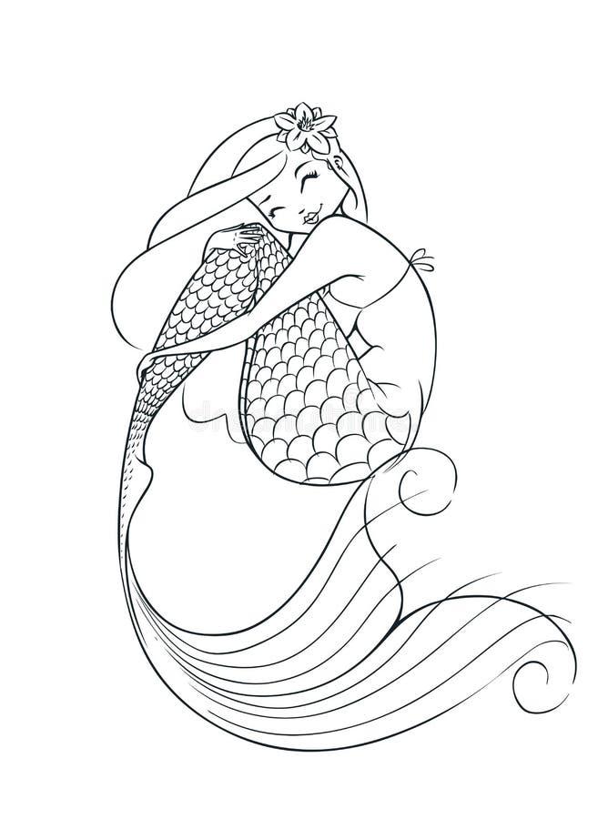 美人鱼童话字符 库存例证