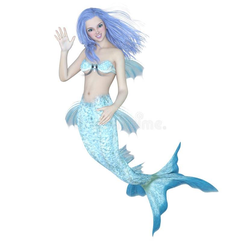 美人鱼 向量例证