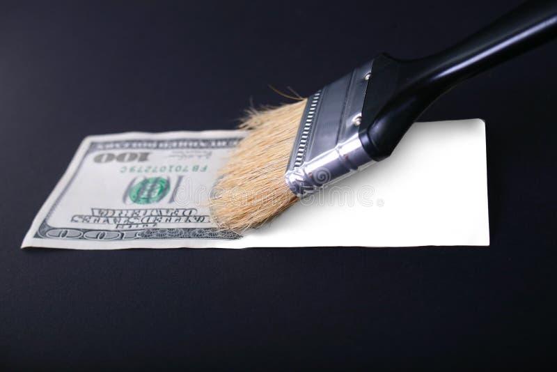 美元伪造品 图库摄影