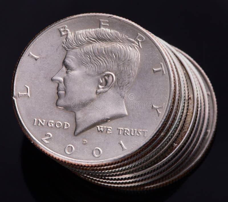 美元半肯尼迪 库存图片