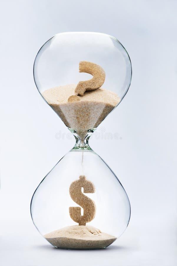 美元危机 免版税库存照片