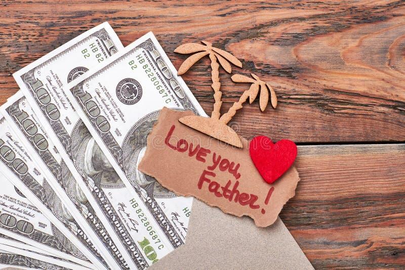 美元和烙画棕榈树 免版税库存图片
