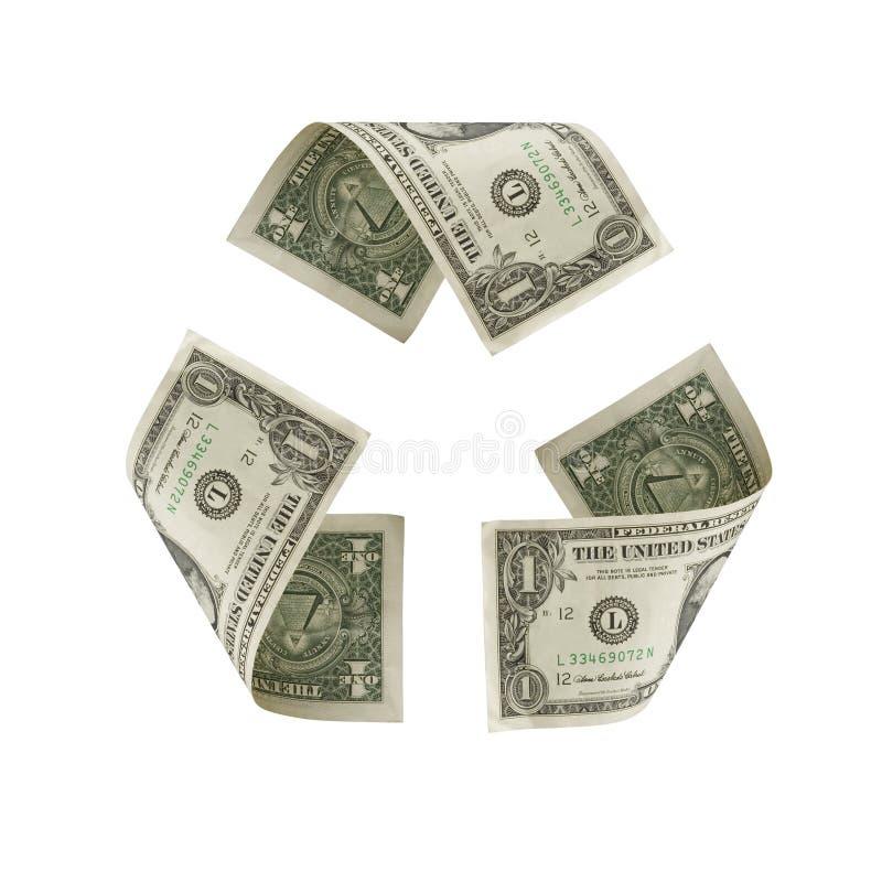 美元回收符号我们 免版税库存图片