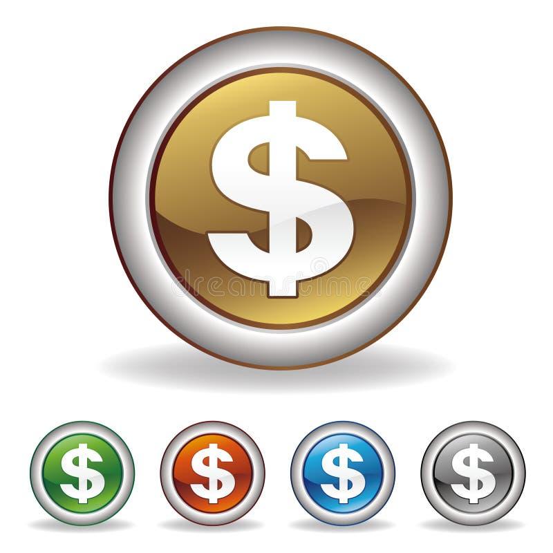 美元图标 库存例证