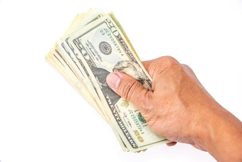 美元在手边 免版税库存图片