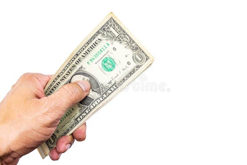 美元在手边 免版税库存照片
