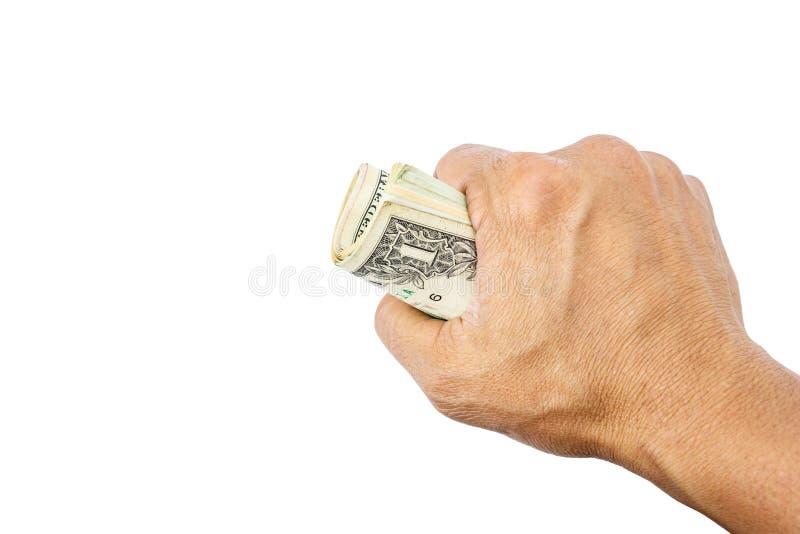 美元在手边 图库摄影
