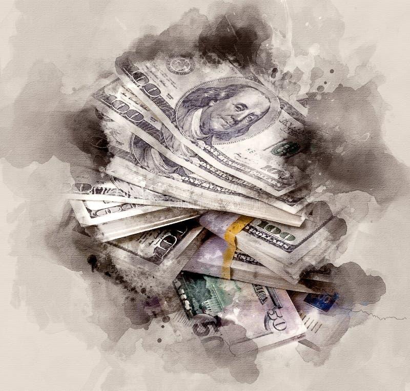 美元堆 皇族释放例证